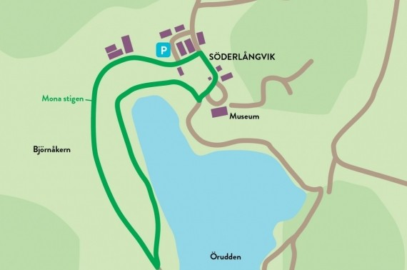 The Mona-path, Söderlångvik, 1,7km