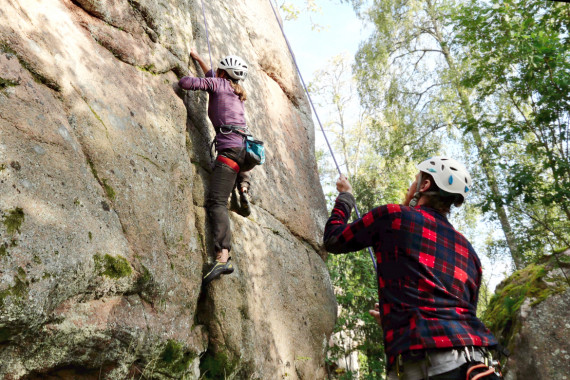 Climbing and abseiling by Nordic Activities